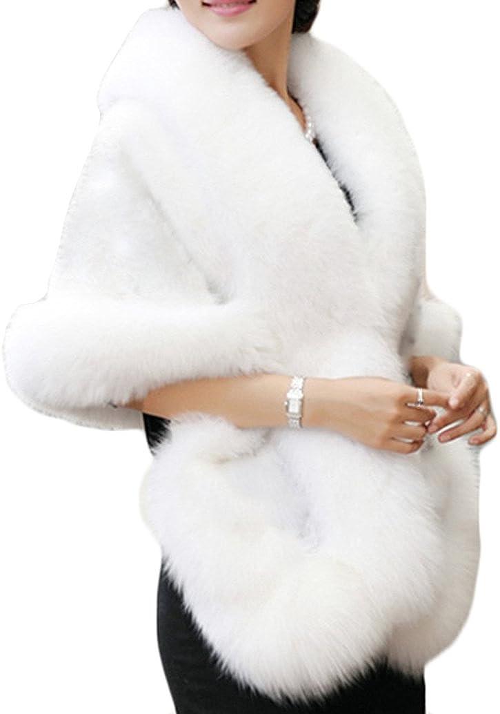 Reservation Old Dlrd Women's Winter Faux Fur S Wedding Cape Bride Coat Luxury Cloak