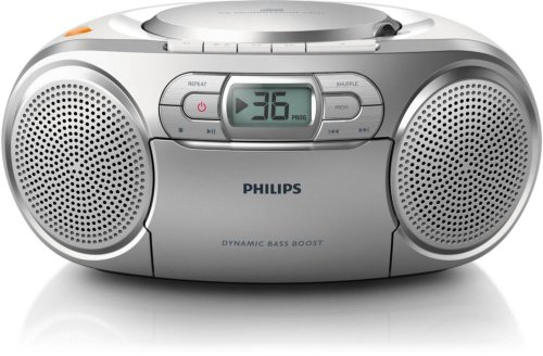 Philips AZ127/05 Portable CD Player with Radio, CD Soundmachine (Autostop...