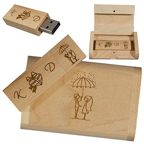 Usb Eco Pen Drive/ Flash Drive/ Memory Stick Flashitall de 16Gb 3.0 Personalizado con Grabados en Madera Ecológica