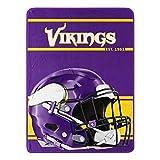 NFL Minnesota Vikings 46x60 Micro Raschel Run Design RolledBlanket, Team Colors, One Size