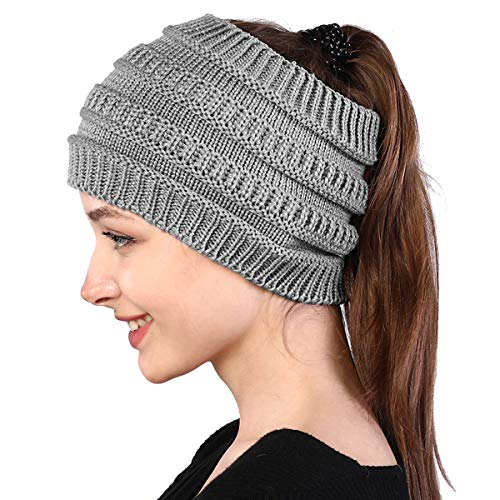 Hotelvs Stirnband Damen Winter Gestrickt Stirnband, Thermo Breit Elastische Haarband Ohr Wärmer Herbst Warm Headband Stirnbaender