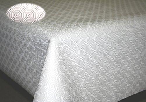 Sous nappe blanc TEKNIGOMME ep. 3,5 mm- Largeur 110 cm roulé sur tube (sans plis) (Ronde 1,10 m)