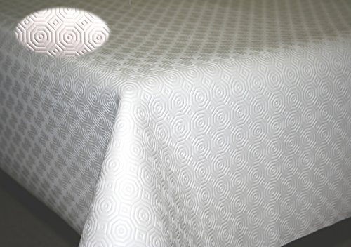Teknigomme sous Nappe Blanc EP. 3,5 mm- Largeur 110 cm roulé sur Tube (sans Plis) (Rectangle 1,10 x 2,50 m)