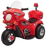homcom Moto Elettrica 6V per Bambini 18-36 Mesi con 3 Grandi Ruote, Luci e Suoni Realistici, Rosso,...