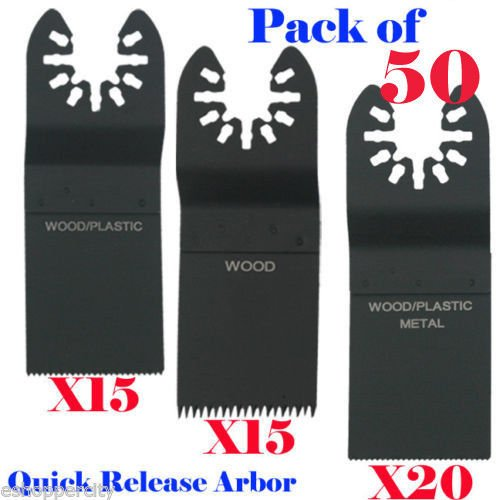 Best Deals! 50 Pcs Quick Release Multitool Saw Blades