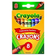 Crayola Crayons, School Supplies, Classic Colors, 8 Count