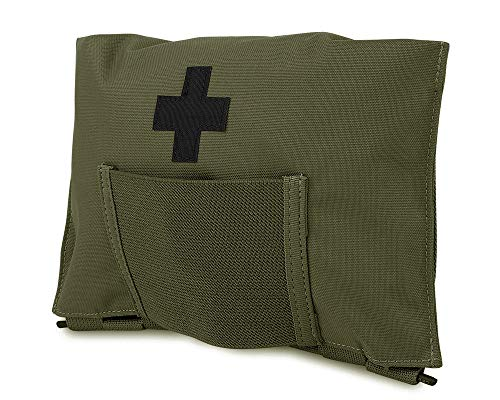 KRYDEX Tactical Blow Out Kit Bag Medical Pouch First Aid Bag IFAK Pouch with MOLLE and Belt Loop (RG)