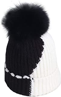 baby girl fur bobble hat