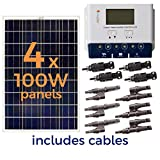 Grape Solar GS-400-KIT 400-Watt Off-Grid Solar Panel Kit