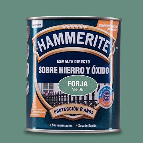 BRUGUER HAMMERITE Esmalte, Verde Forja, 750 ml (Paquete de 1)