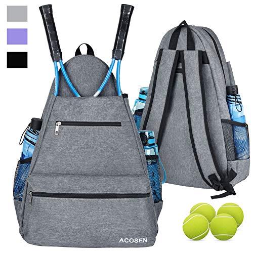 ACOSEN Tennis Bag Tennis Backpack - Large...