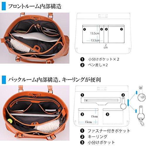 [レットドリーム]LETDREAMトートバッグ本革メンズ通勤ビジネスバッグldr01802ブラック