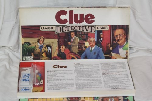 Clue Vintage Detective Game (1986) by Parker Brothers