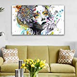 PAINTLE Pintura Sexy Woman Face Art Canvas Canvas Prints Digitales...