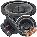 Car Vehicle Subwoofer Audio Speaker - 6 Inch Competition Pressed Paper Cone, 4 Ohm, Advanced Air Flow, 400W Power for Stereo Sound System - Audiotek K706 (1 Subwoofer) w/Wire PK3 Bundle
