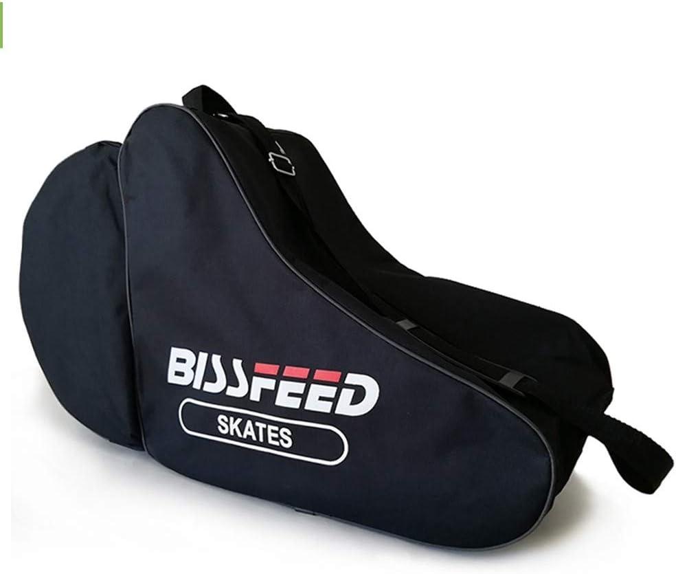 MiOYOOW Ice Skate Bag Waterproof Unisex Roller Skate Bag with Adjustable Shoulder Strap Triangle Skate Bag for Kids and Adults