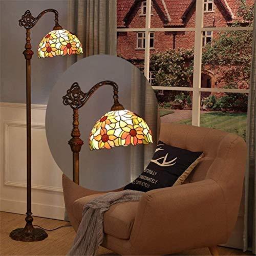 no bran Lámpara de Mesa Pintada Piso De Vidrio De Color Luces De La Habitación Lámparas Lámpara De Pie Suelo del Dormitorio De La Lámpara Retro Finas