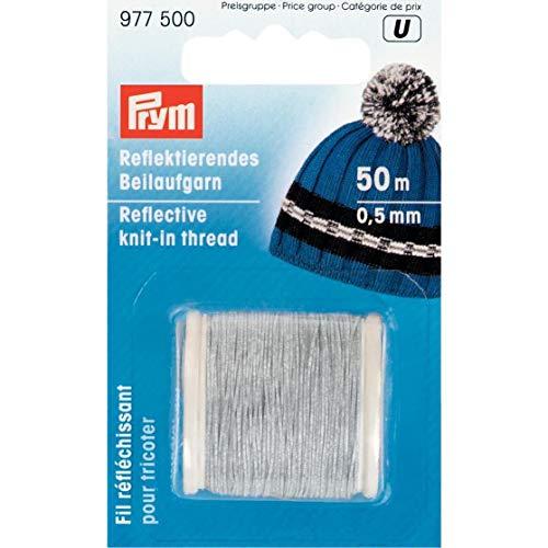Prym Reflektierende Strick-Gewinde Mischgewebe, Polyester, Mehrfarbig, 0,5mm 50m