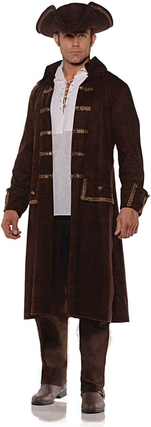 HorrorShop Pirate Costume Coat With Hat L