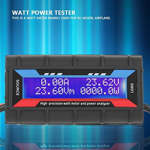 Wattmeter, 4,8V ~ 60V 150A Hochpräzises LCD-Display Wattmeter Spannung Ampere Leistungsanalysator für RC-Modellflugzeug