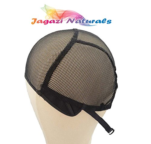 Full Wig Cap. Adjustable Strap. Stretchy Cap. Durable Weaving Cap/Chapeau de perruque pleine. Sangle réglable. Cap extensible Capuchon de tissage durable. Net