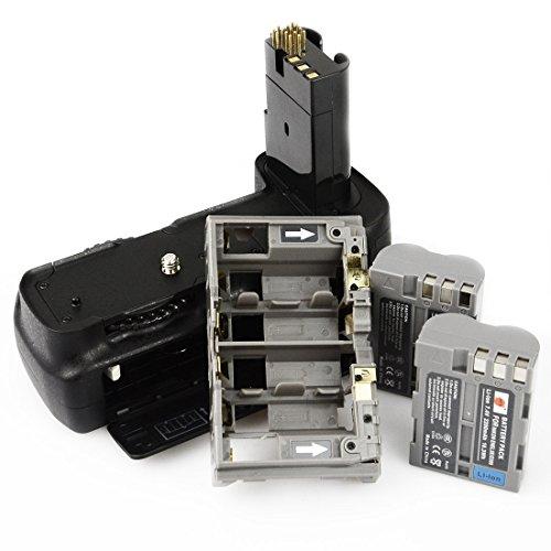 DSTE Multi-Poder Vertical Batería Apretón Titular Compatible con Nikon D80 D90 DSLR...