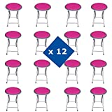 Innova PACK 12 TABURETES PLEGABLES FUCSIA (30*30*45 CM)