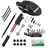 CHUMXINY Bicycle Repair Kit, Bike Tire Repair Tool Kit Contains 16-in-1 Tool, 120Psi Mini Bicycle...