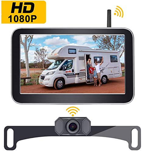 Amtifo Digital Wireless Backup Camera AM-W70 with Stable Signal, HD 1080P 7'' Monitor and Rear View Camera Kit for Cars,Pickups,Trucks,Campers backup Cameras Vehicle