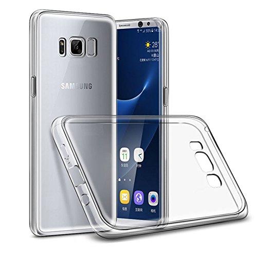 REY Funda Carcasa Gel Transparente para Samsung Galaxy S8, Ultra Fina 0,33mm, Silicona TPU de Alta Resistencia y Flexibilidad