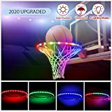 Innoo Tech LED Basketball Hoop Lights, Solar Powered Glow-in-The-Dark Basketball Rim Lights, Waterproof Super Bright Strip Lights with 8 Light Modes, Ideal for Playing Training Games at Night Outdoors