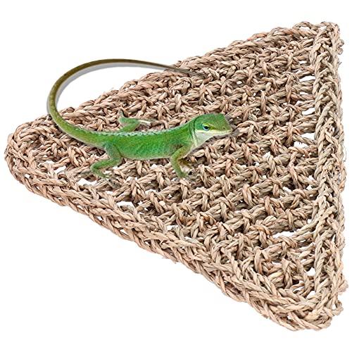 La hamaca de lagarto, materiales naturales saludables y respetuosos con el medio ambiente La cama colgante para reptiles agrega más espacio para trepar tanto para reptiles arbóreos como
