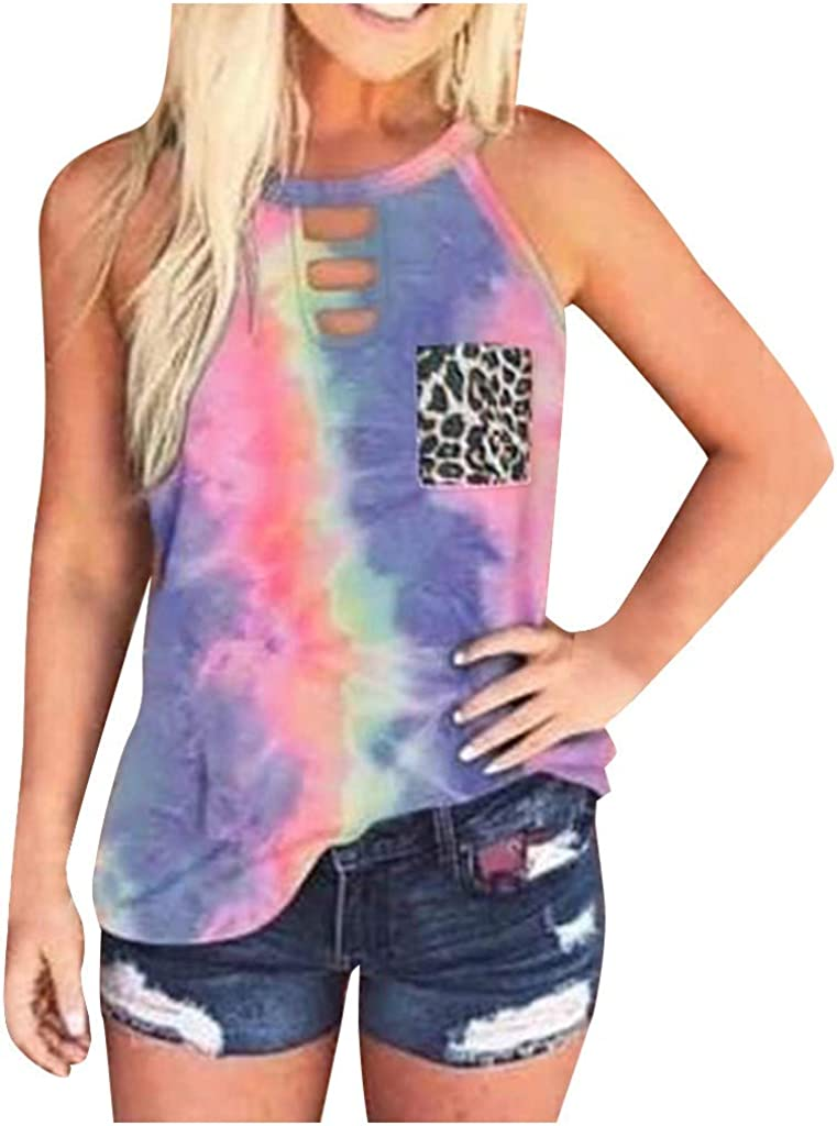 Gerichy Tank Tops for Women Summer Dressy, Womens Summer Vest Tops Fashion Printed Sleeveless Blouse Loose Fit Vest Shirts