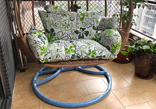 Hanging Chair Cushion,Single Double Cradle Rattan Chair Hammock Changeablecloth Cover Sofa Hanging Chair Soft Extra-thick Extra-large Cotton