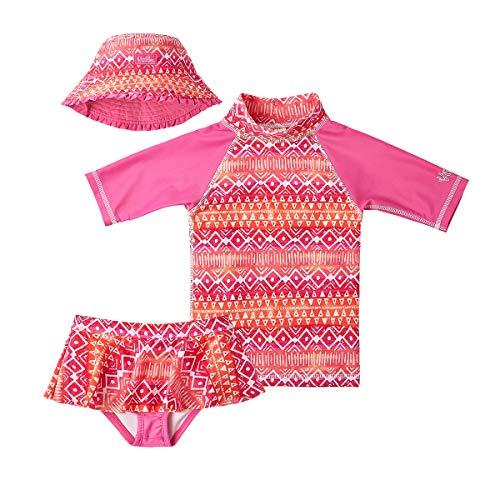 UV SKINZ UPF 50+ Mädchen Schwimmset 3-teilig - Pink - 3 Jahre