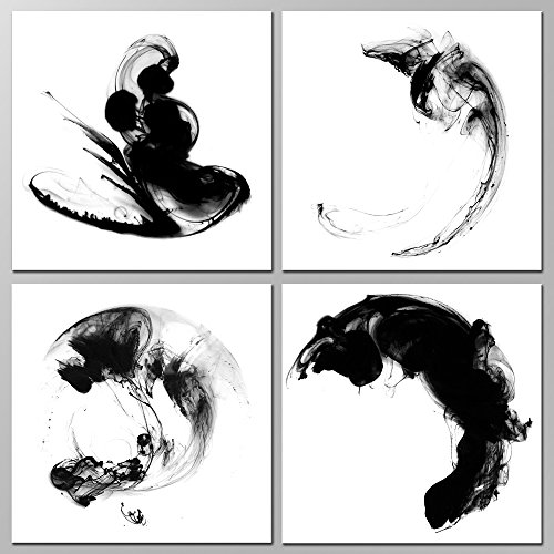 Sea Charm - Modern Minimalist Wall Art Abstract Black and Wh...