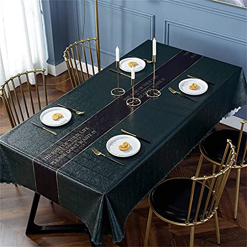 SUNFDD PVC Tinta Unita Facile da Pulire Rettangolare Impermeabile E Antivegetativa Tovaglia Antiolio Tavolo Quadrato Tavolino Tavolino da Esterno Picnic Party Giardino Cucina 120x170cm