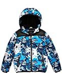 Wantdo Boy's Winter Coat Waterproof Thick Padded Hooded Puffer Jacket Blue 6/7