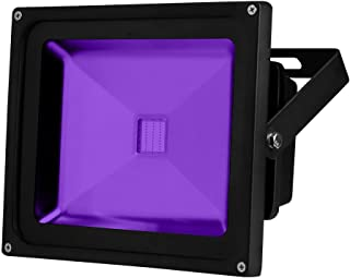 YQL Outdoor UV Black Light, 30W Ultra Violet LED Flood Light, Blacklights for DJ Disco Night Clubs, UV Light Glow Bar, Blacklight Dance Party, Stage Lighting, Glow in The Dark Party Supplies,Curing