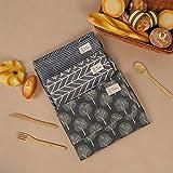 adakel 3 Stücke Wasserdicht Schürze, Kochschürze mit Taschen, Verstellbarem Küchenschürze Grillschürze latzschürze für Damen und Männer - 2