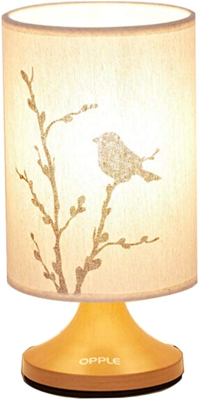 LIU UK Table Lamp Schlafzimmer Nachttischlampe Umweltschutz Material Kreative Wohnzimmer Dekoration Lampe Beleuchtung Warme Hochzeit Nachttischlampe (gre   Floral Bird)