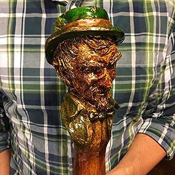 Fighting Irish Hand Carved Walking Stick