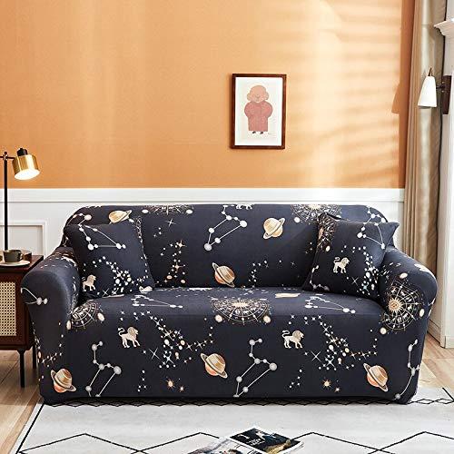 WXQY Funda de sofá elástica para Sala de Estar Funda de protección para sofá de Esquina en Forma de L Funda de protección para sofá con protección para Mascotas con Todo Incluido A23 3 plazas
