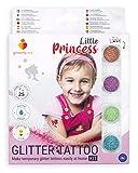 Glitterify Me Pequeña Princesa – Kit de Tatuajes de Purpurina para niñas – Hecho en la UE, Calidad cosmética