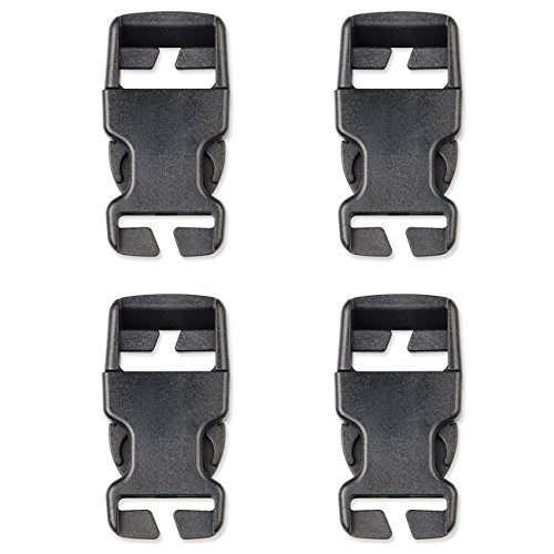 DYZD Multi-Size Plastic Buckle Repair Kit Quick Release Buckles No Sewing Required Buckles for Backpack Bag (4pcs Black,25 mm)