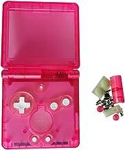 Deylaying Transparente Cubierta de Cáscara Cover Piezas de Reparación para Gameboy Advance SP Consola, GBA SP Reemplazo Completo Shell Caso, Claro Rosa