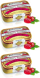 Grether's Pastilles Sugar Free Formula for Dry Mouth and Sore Throat Relief with Vitamin C, Redcurrant, 3-P...