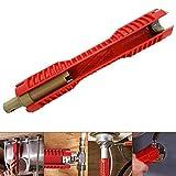 Suctato Llave multifuncional para grifo Llave para lavabo Herramientas de plomería, llave de tubo de instalación de fregadero de doble...