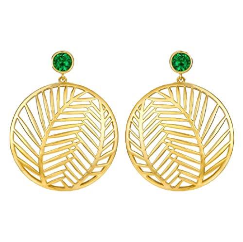 MXH oorbellen S925 Sterling Silver Ear Pin Fashion Earrings Ear sieraden Brown Leaf Coco Oorbellen