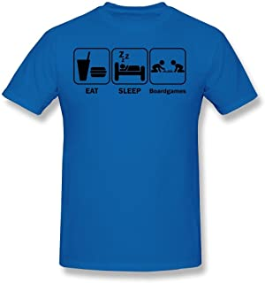AJLNA Men's Eat Sleep Board Games T-Shirt RoyalBlue
